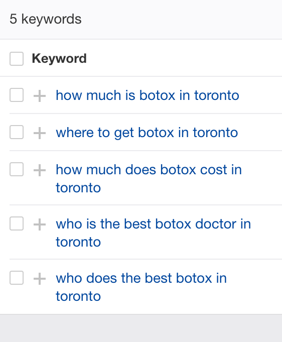 Botox questions asked in Toronto