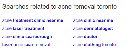 Searches related to acne removal toronto