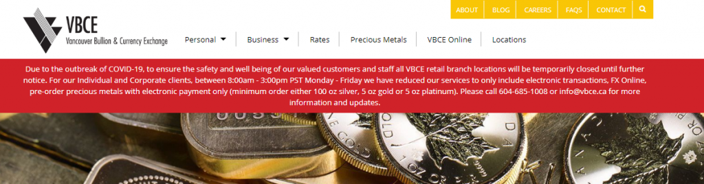 VBCE gold rates