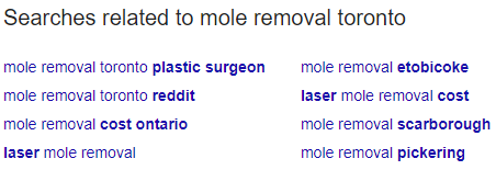 mole removal - people also search for