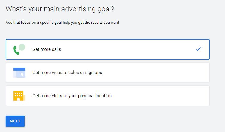 Simple Google ad campaign set up