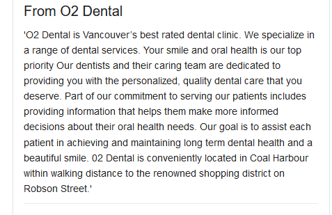 O2 Dental GMB description
