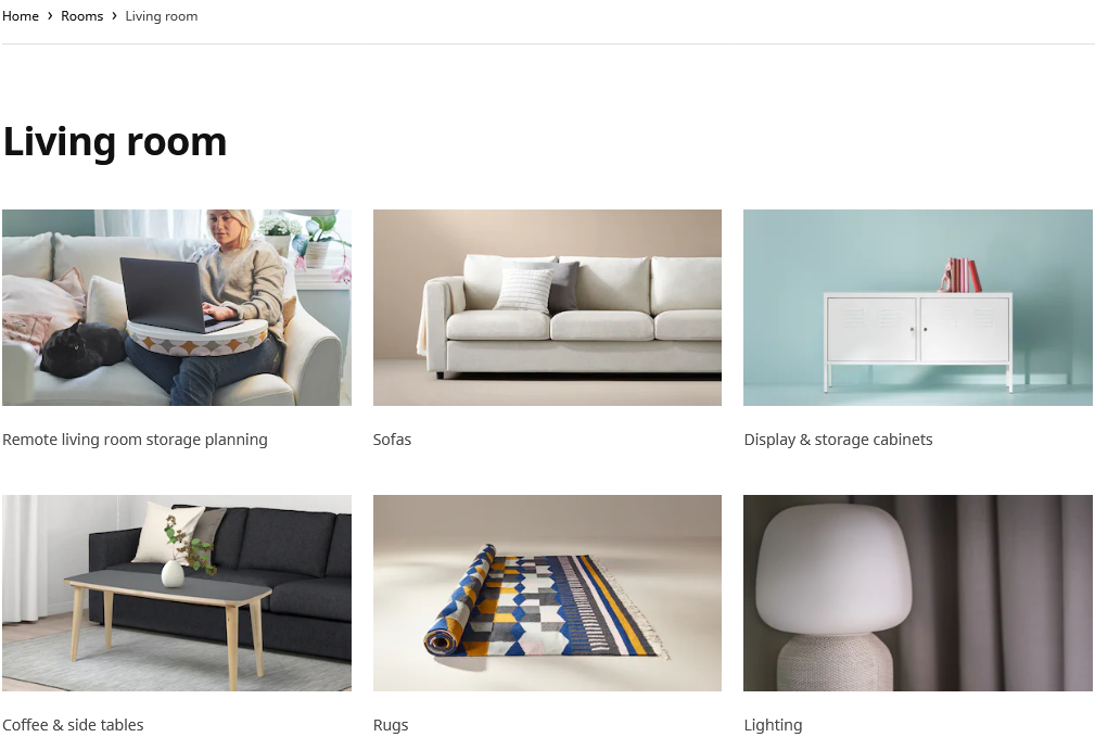 IKEA category pages
